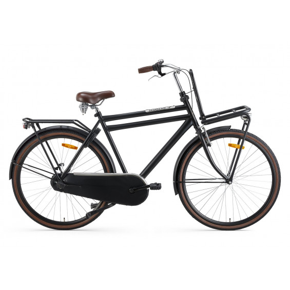 Popal Transportfiets Daily Dutch Basic Plus Heren Mat Zwart 57cm POPAL DAILY DUTCH B+ N3 H57 MAT ZW