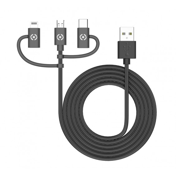 Celly 3 in 1 Universele Kabel CELLY 3 IN 1 UNIVERSAL CABLE