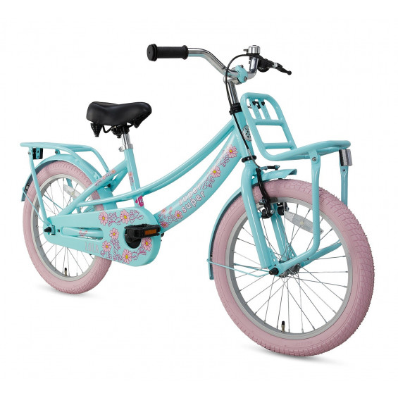 "Supersuper Kinderfiets Lola mint roze 16"" SUPERSUPER LOLA 16"" MINT ROZE"