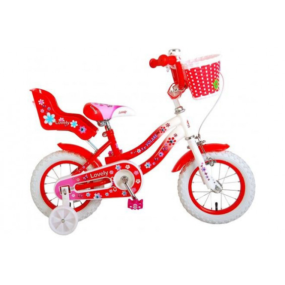 """Kinderfiets Volare Lovely 12""""  Rood/Wit VOLARE LOVELY 12""""  ROOD / WIT"""