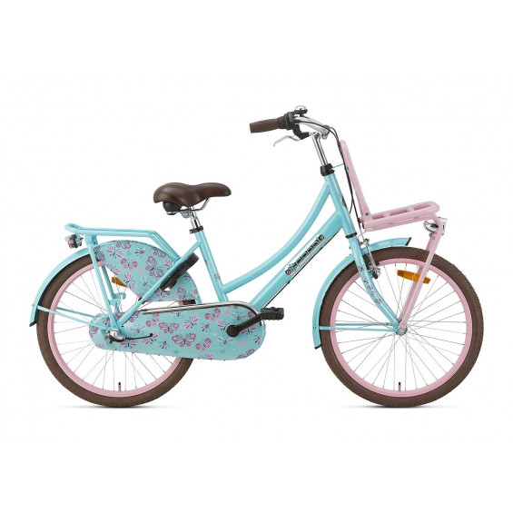 """Popal Kinderfiets Daily Dutch Turqouise Roze 22"""" POPAL DD BASIC+ 22"""""""" N3 TURQOUISE R"""