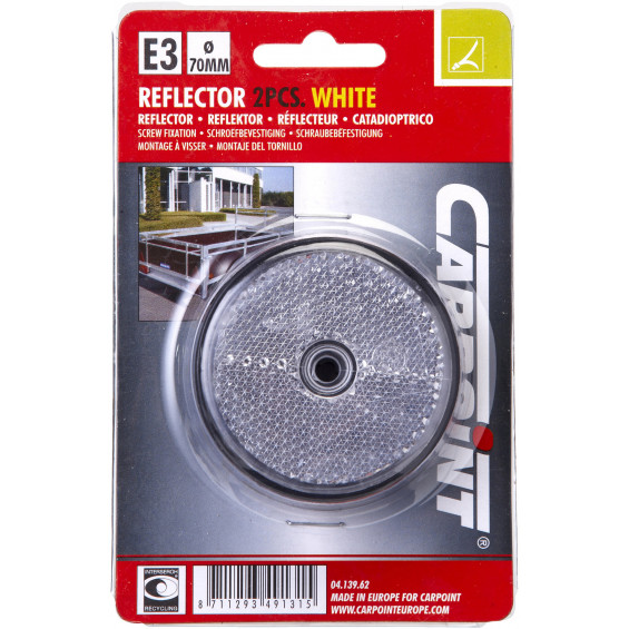 Carpoint Reflector Rond Wit REFLECTORS WIT 70MM