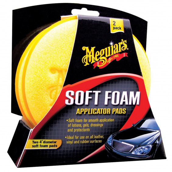 Meguiar's Soft Foam Applicator Pads MEGUIAR'S FOAM APPLICATOR PAD 2ST