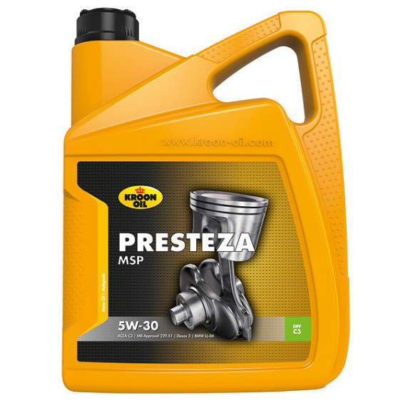 Kroon-Oil Motorolie Presteza MSP 5W-30 5L KROON-OIL PRESTEZA MSP 5W-30 5LITER