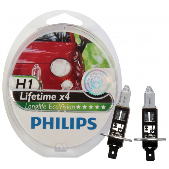 Philips Lampenset Ecovision H1 LAMP PH LONGLIFE ECOVISION H1 SET