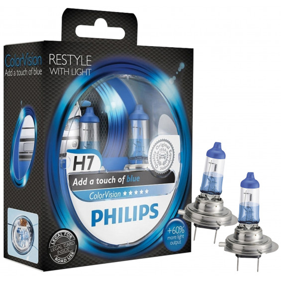 Philips Autolampen Colorvision H7 Blauw PHILIPS COLORVISION H7 BLAUW