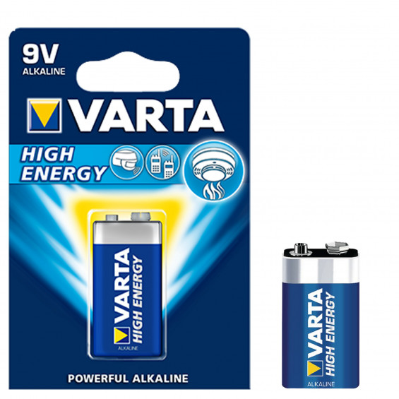 Varta Batterijen High Energy 9V VARTA HIGH ENERGY 9V