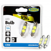 Ring Autolampen C5W LED High Power 11 X 38MM HIGH POWER LED WHITE TWIN