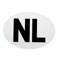 Carpoint NL Sticker NL STICKER WIT VINYL 112X80MM