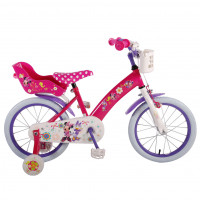 "Disney Kinderfiets Minnie Bow- Tique 16""  roze/wit DISNEY MINNIE BOW TIQUE 16""  RZ/WIT"