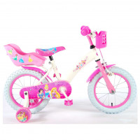 "Disney princess Kinderfiets Princess 14"" wit/roze DISNEY PRINCESS 14""  WIT/ROZE"