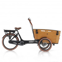 Vogue Elektrische bakfiets Carry zwart/bruin 468 Watt VOGUE BAKFIETS CARRY N7RB ZW/BR 13A