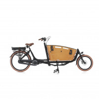 Vogue Elektrische bakfiets Two Wheel Carry zwart/bruin 481 Watt VOGUE 2CARRY N7DBRB ZW/BR 13AH