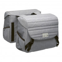 New Looxs Dubbele tas Mondi Joy 38 liter Quilted grijs NL DUB. TAS MONDI JOY QUILTED GR 38