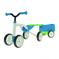 Chillafish Loopfiets Quad + Trailer Blauw LOOPFIETS QUAD + TRAILER BLAUW WIT
