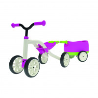 Chillafish Loopfiets Quad + Trailer Roze LOOPFIETS QUAD + TRAILER ROZE WIT