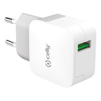 Celly Thuislader 1 USB 2.4A Wit CELLY THUISLADER 1 USB 2.4A WIT