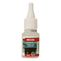 Womi W235 Secondenlijm Ultra Snel 20g WOMI SUPERGLUE LIQUID BS 20 GRAM