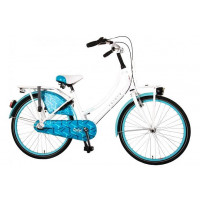 "Volare Kinderfiets Oma Dolce Wit/Blauw VOLARE OMA DOLCE 24""  WIT BLAUW"
