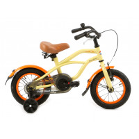 "Popal Kinderfiets Black Fighter Creme 12"" POPAL KINDERF. BLACK FIGHTER 12""  C"