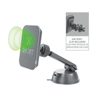 Celly Magnetische Houder Ghost + Draadloze Lader CELLY TEL. HOUDER MAGNETIC WIRELESS