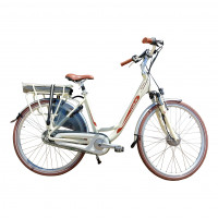 Vogue Elektrische fiets Basic dames mat créme 49cm N7 468 Watt VOGUE BASIC D49 N7RB MAT CREME 13AH
