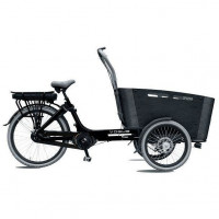 Vogue Elektrische bakfiets Carry zwart/zwart 468 Watt VOGUE BAKFIETS CARRY N7RB ZW/ZW 13A