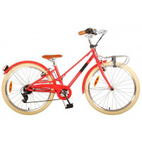 """Kinderfiets Volare Melody 24""""  Pastel Rood 6SP VOLARE MELODY 24""""  PASTEL ROOD"""