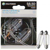 Halfords Autolampen S8.5D 15x44mm INTERIEURVERL.S8.5D 15X44MM (H265)