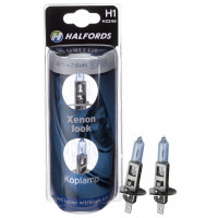 Halfords Autolampen H1 Xenon Look KOPLAMP H1 SET BLUE 2ST. (H2248)