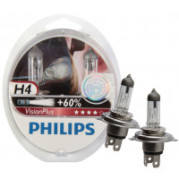 Philips Autolampen Visionplus H4 LAMP PH VISION PLUS H4 SET